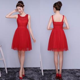 a9685420c Vestido Grado Rojo - Vestidos De Fiesta para Mujer en Mercado Libre Colombia