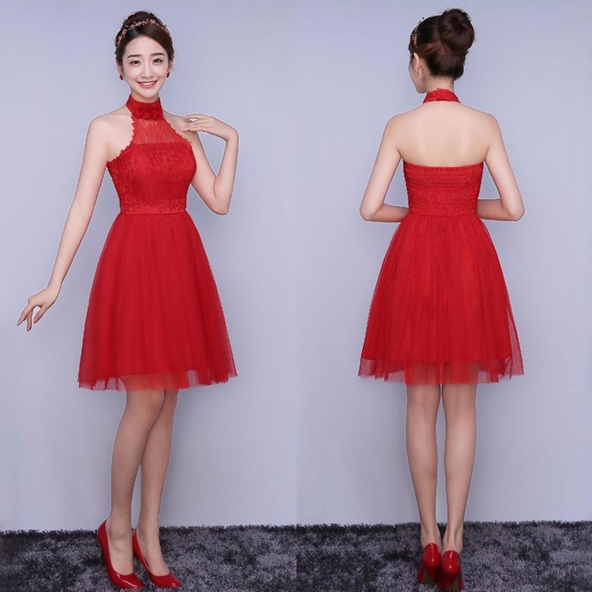 cb2b5cfc0be vestido rojo fashion elegante fiesta grados dama de honor. Cargando zoom.