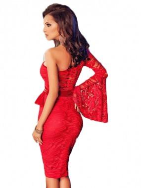 390f1bedb Vestido Rojo Fiesta Corto Una Manga Envío Gratis -   499.00 en ...