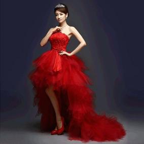 el más nuevo rico y magnífico gama completa de especificaciones Vestido Rojo Importado Talle S