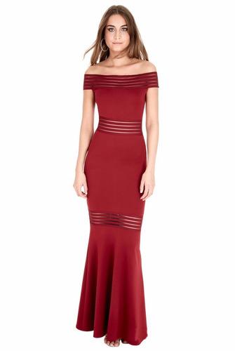 vestido rojo largo de fiesta graduación va 196
