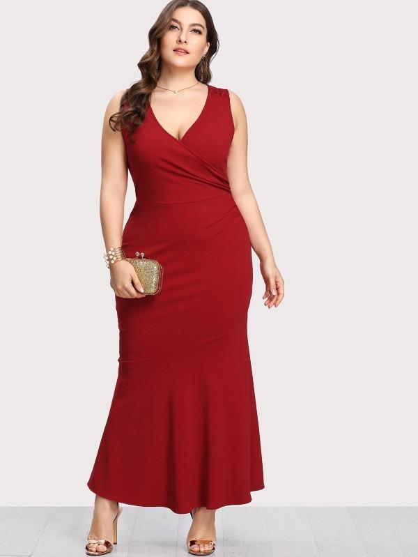 324226877ba Vestido Rojo Largo Fiesta
