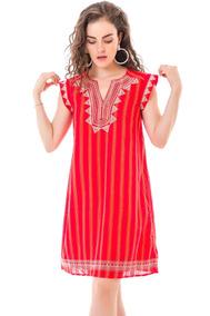 Vestidos De Dama De Honor Rojos Casuales Mujer Vestidos De