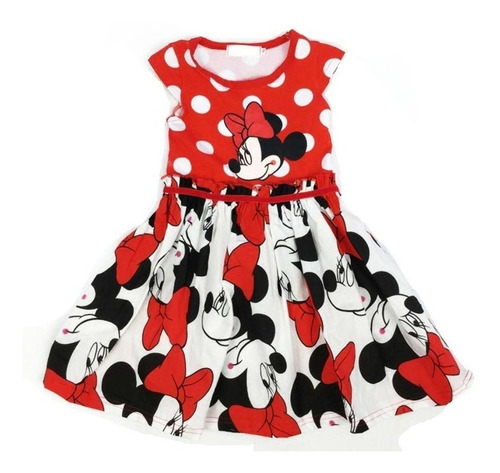 vestido rojo minnie nuevo