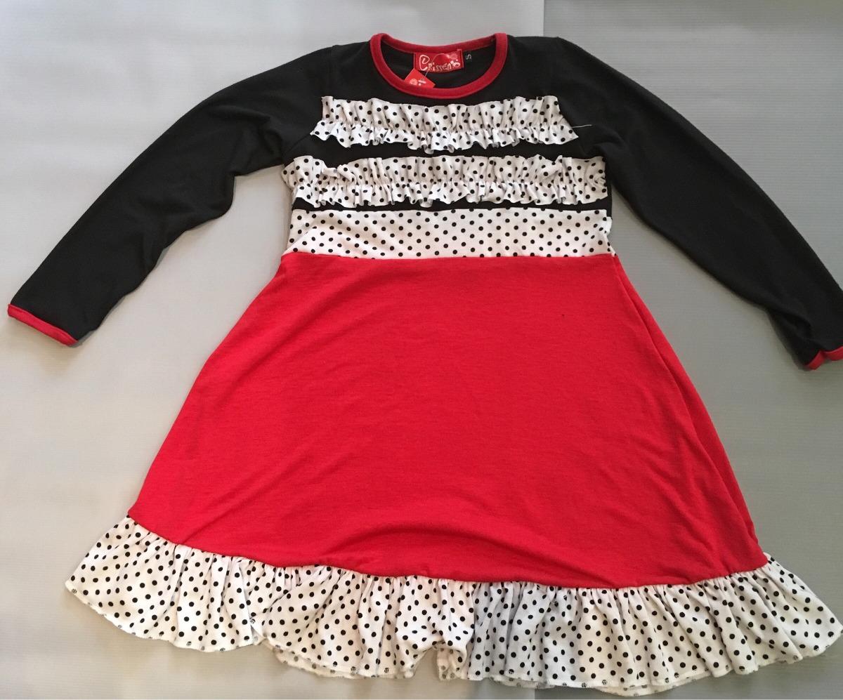 Vestido rojo y negro nena