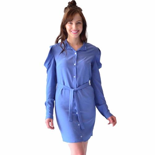 vestido ropa mujer rack & pack camisero liso color azul