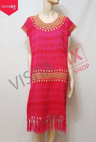 vestido rosa con faja azul - 164851