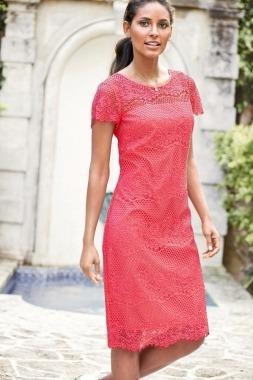 10a5c48ab97 Vestido Rosa Coral Encaje Corto Fiesta Moda Coctel Chica - $ 350.00 ...