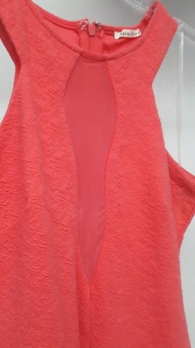 vestido rosa corto