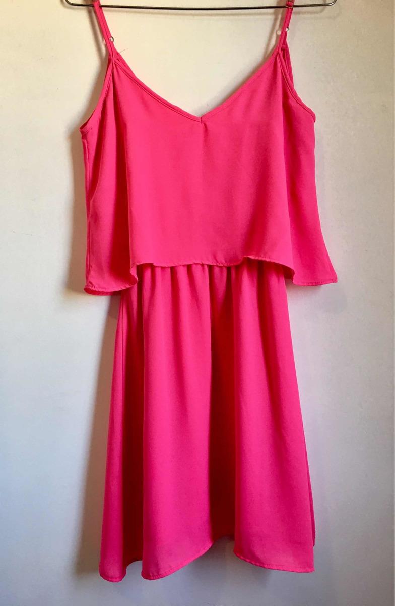 54689c73d Vestido Rosa Curto Semi Novo!!!! - R$ 20,00 em Mercado Livre