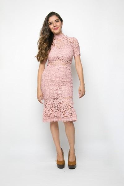 3175e94b53 Vestido Rosa De Encaje Boquita -   499.00 en Mercado Libre