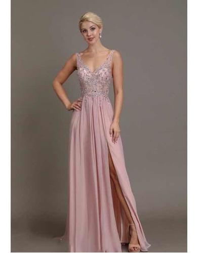 vestido rosa  de fiesta  de boda, largo, de dia mayoreo y me