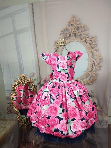 vestido rosa floral