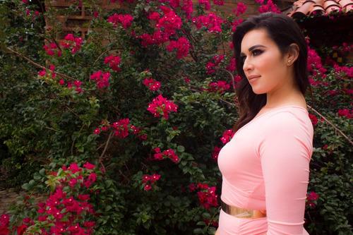 vestido rosa manga larga [tallas extra curvy] atália