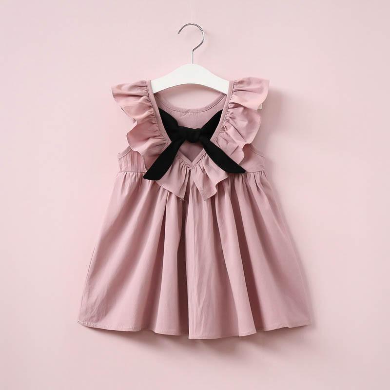 bc139eb8c Vestido Rosa Palo De Algodón Para Niña
