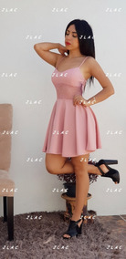 Vestido Rosa Palo Tirantes Con Encaje Andreomys Envío Gratis