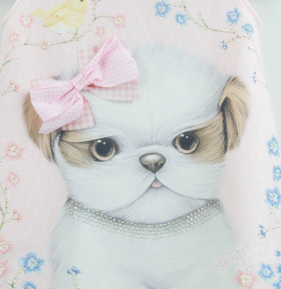 e2e3eb336 vestido rosa petit cherie mini estampa cachorrinho - 4 - ros. Carregando  zoom.