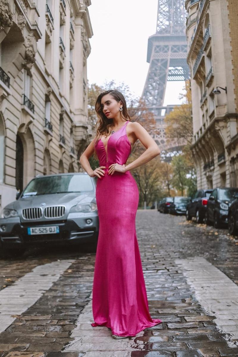 c701111d8 Vestido Rosa Pink Longo Festa Madrinha Formatura - R$ 188,00 em ...