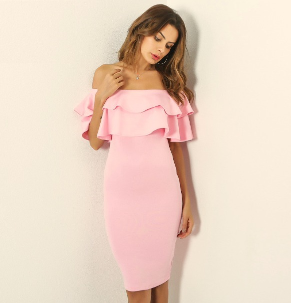 Vestido Rosa, Sexy Elegante Formal Fiesta Evento - $ 859.00 en ...