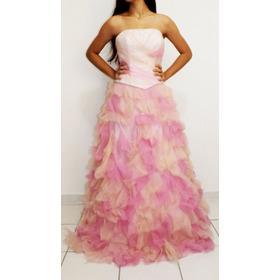 Vestido Rosa Tomara Que Caia / Vestido Princesa