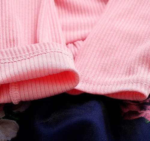 vestido rosa y azul con tul