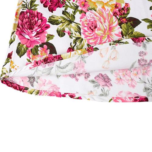 vestido rosado floral