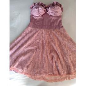Vestido Rosê, Com Cinto Em Brilhante! Marca: Lia Line.