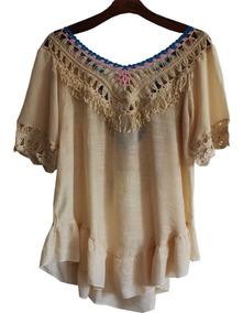 4e0169585 Saida Praia Croche Tecido - Vestidos com o Melhores Preços no ...