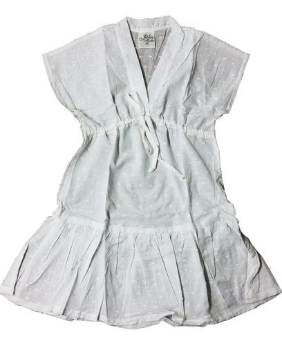 vestido saida de praia infantil c/regulagem de largura busto