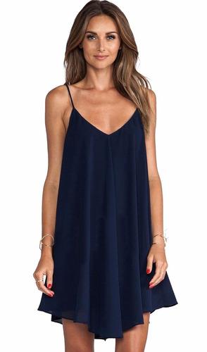 vestido salida playa mujer color azul talla m