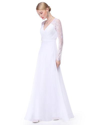 vestido señora manga larga importado madrina moda pasión