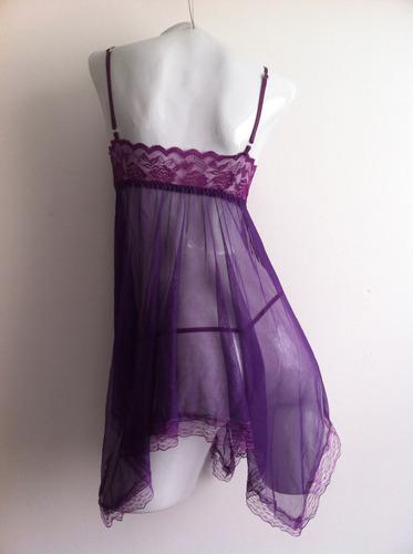 vestido sensual sexy talla s babydoll + tanga