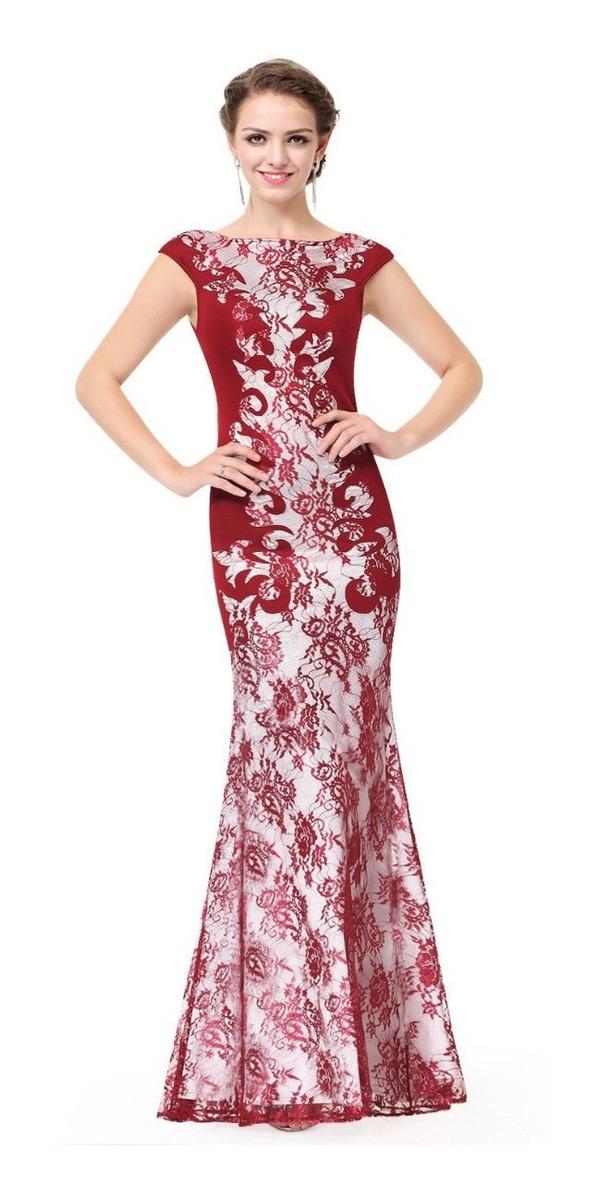 7930e67ab vestido sereia madrinha festa longo marsala vermelho renda. Carregando zoom.