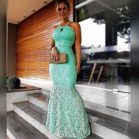 e9300525b Vestido Madrinha Verde Menta - Vestidos Longos Femininas no Mercado Livre  Brasil