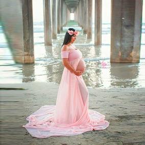 Vestido Sesion De Fotos Embarazomaternidadimportadorosado