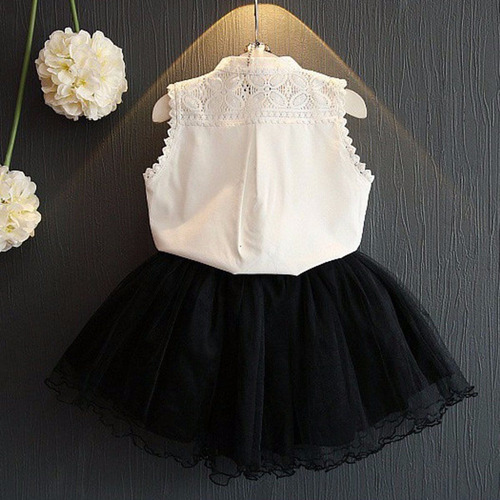 vestido set falda tops fashion princess niña kids baby toddl