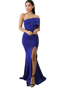91ef493d1 Vestidos De Thalia Strapless Noche Largos - Vestidos de Mujer Azul ...