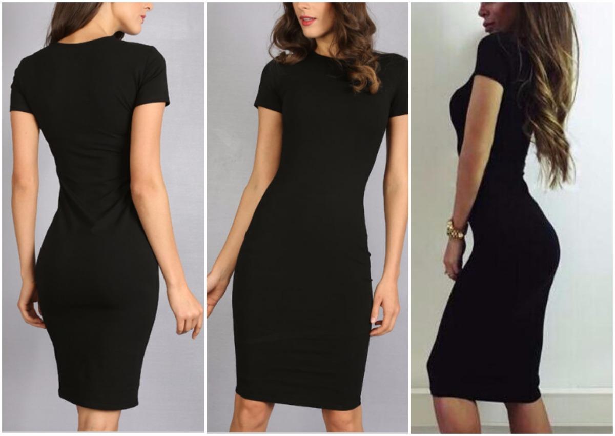 Vestidos negro pegados