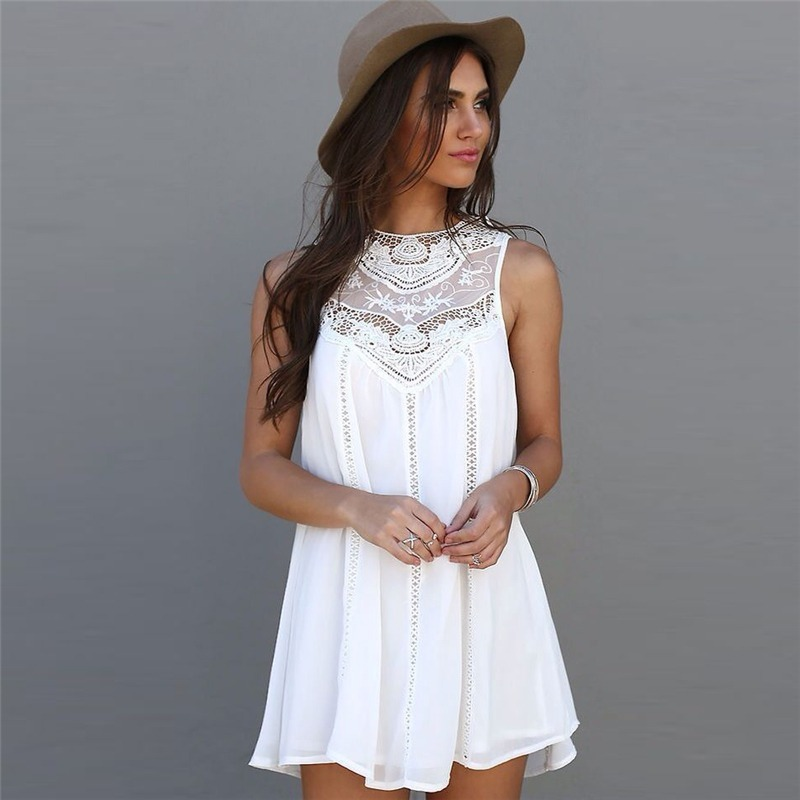 Vestidos blanco corto casual