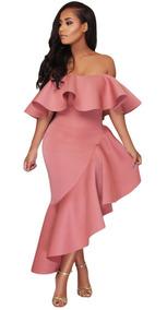 Vestido Sexy Elegante Fiesta Palo De Rosa