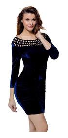Vestidos Para Noche Mexicana Mujer Vestidos Mini Azul
