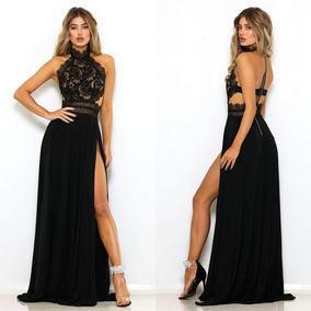 detallado servicio duradero adecuado para hombres/mujeres Vestido Sexy Encaje Negro Rojo Largo Fiesta Gala Jolie Robe