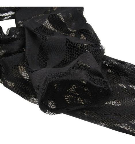 vestido sexy fiesta negro encaje 1/2 pierna + envío gratis