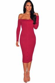 c12363897 Vestido Sexy Strapless Rojo Botones Al Frente Fiesta 61407