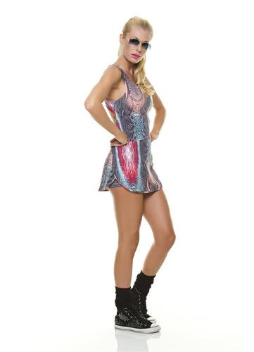 vestido short animal print by diva fitness