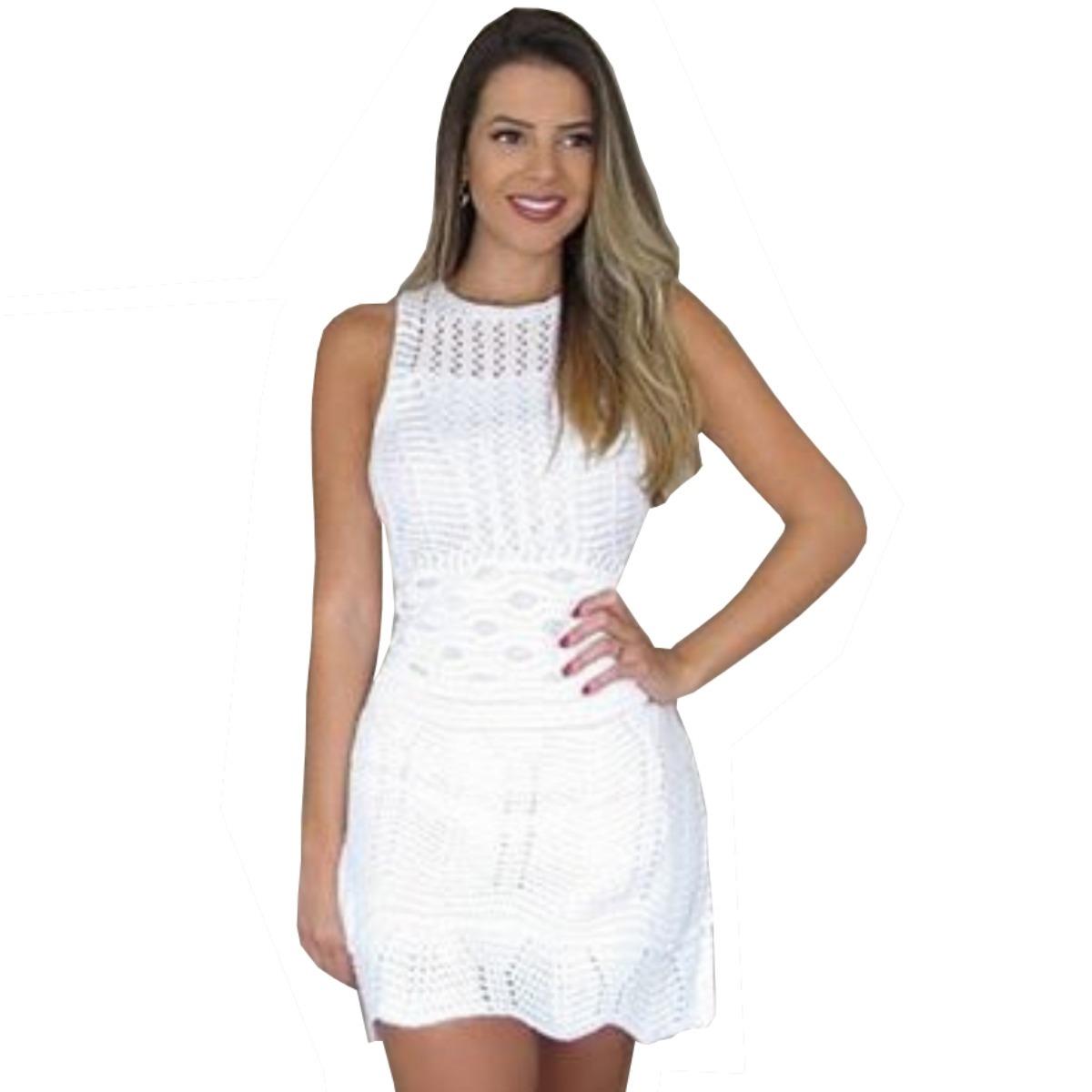 32a06c6c3274 vestido simples curto de formatura tricot trico moda verão. Carregando zoom.
