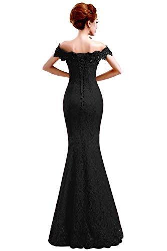 d684f75bb8 Vestido Sirena Graduacion Madrina Boda Fiesta Elegante Negro ...