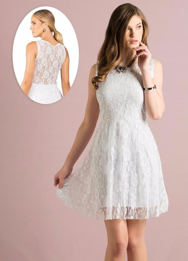9be9471c7d vestido social branco. Carregando zoom.