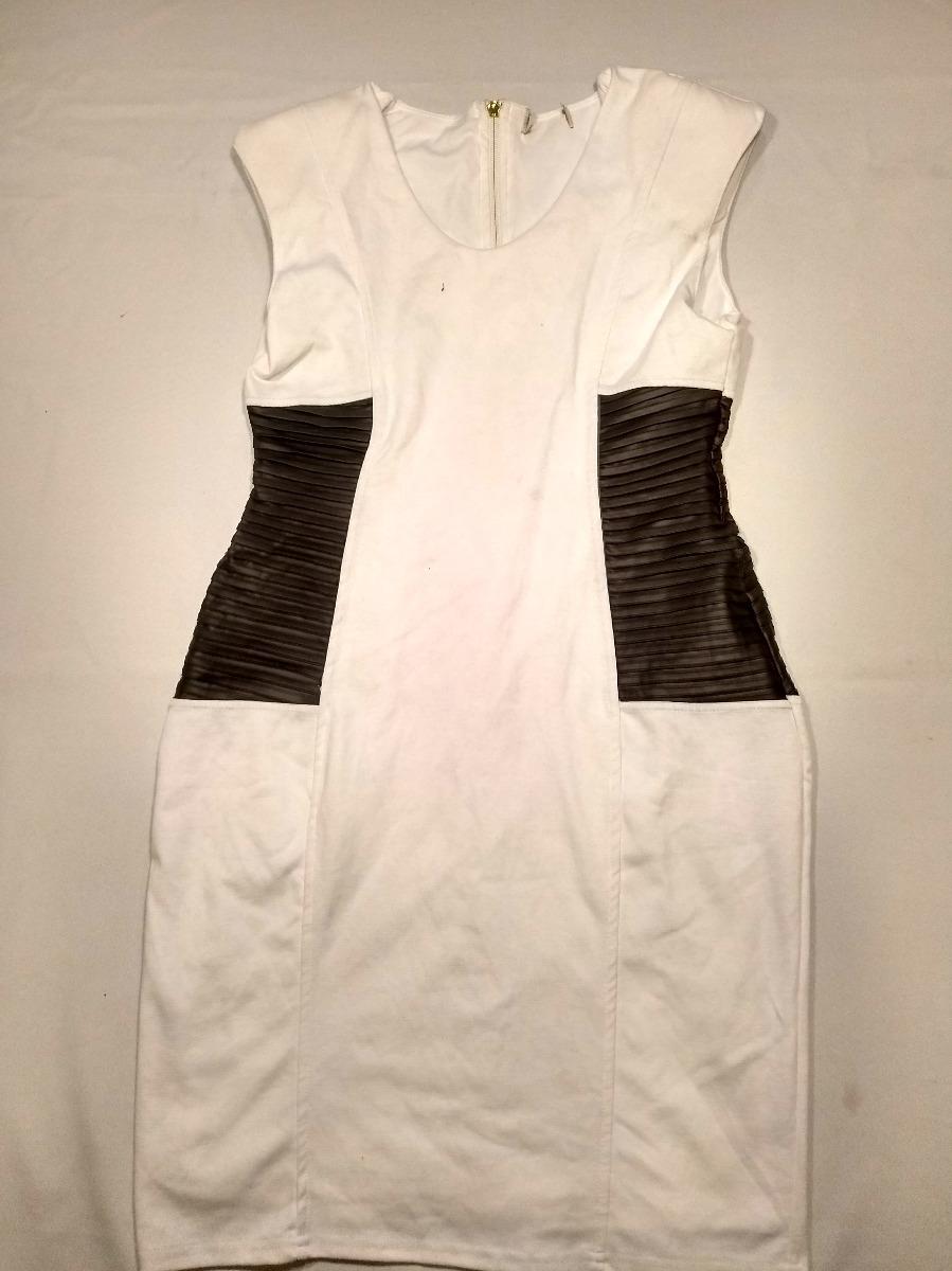 2a15f2fca0 Vestido Social Branco Com Detalhe Preto Cintura Tam G! 139 - R  47 ...