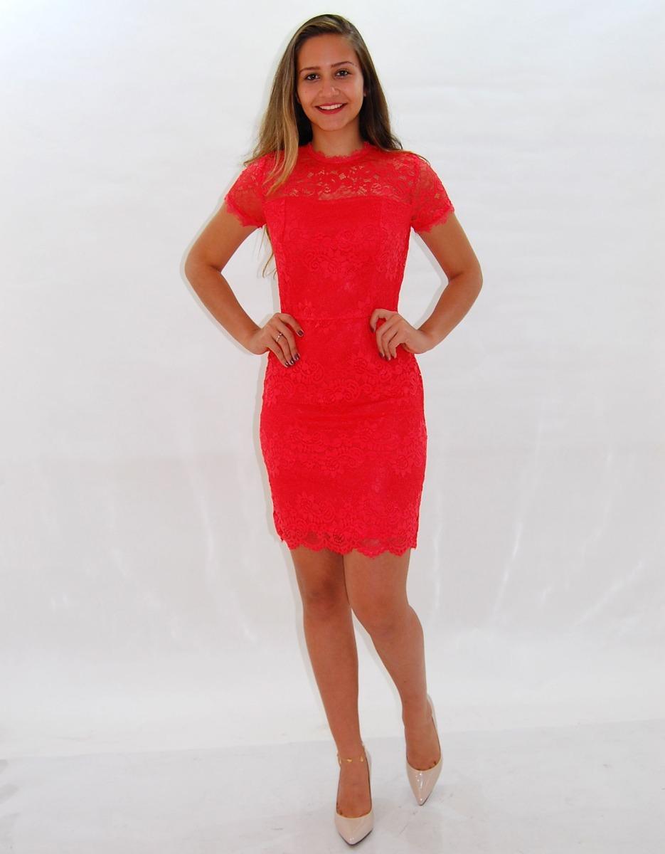 ea149dfe2 Vestido Social De Renda Moda Evangelica Tatá Martello - R  99